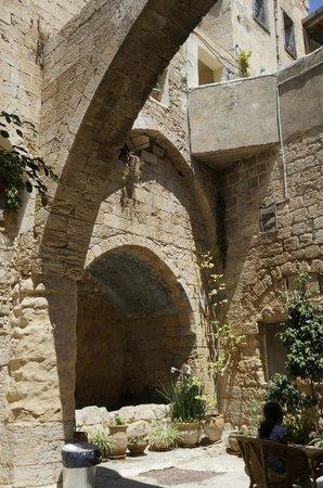 The Fauzi Azar Inn: View of the entrance courtyard