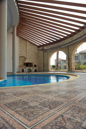 Caldera Villas: The pool and BBQ