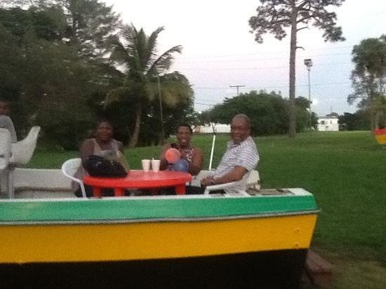 Negril on the Green: On boat at Negril