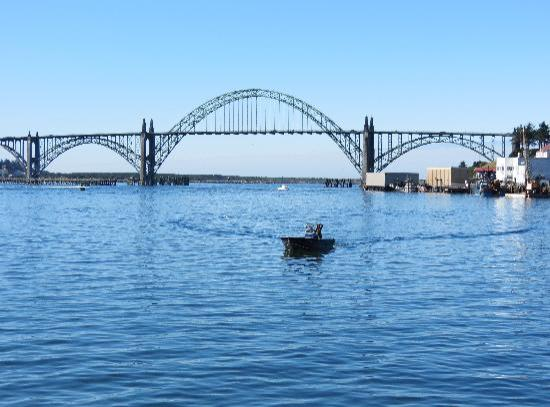 Holiday Inn Express Hotel and Suites Newport: View of Yaquina Bridge, Newport