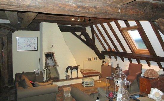 B&B 't Blauwe Schaap: Sitting room area