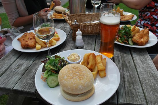 Wineport Bistro: Homemade burger great, but beer-battered fish better