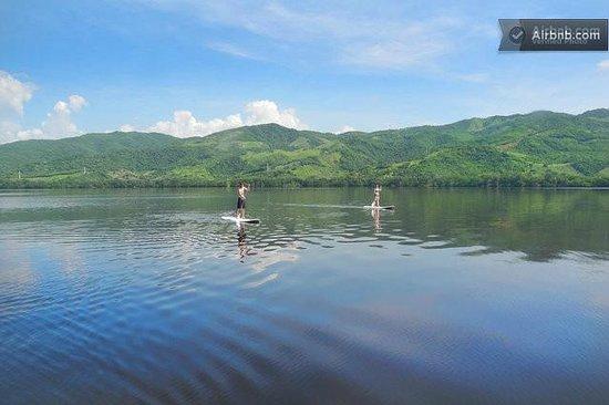Villa Carino & Wakeboard Paradise : lagoon view from Dock