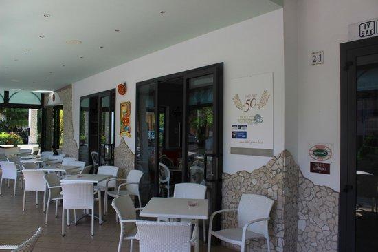 Hotel Giamaika: Die Terrasse