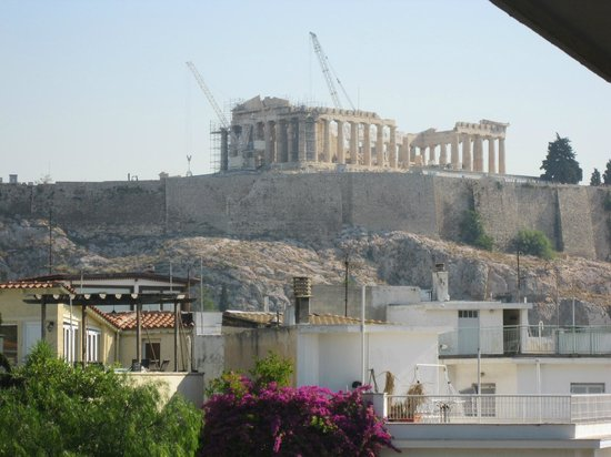 Acropolis Hill Hotel: View  from room 601
