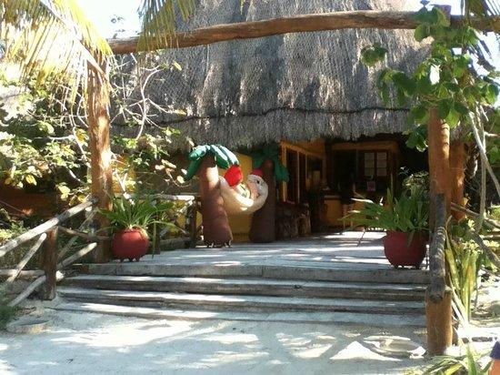 Hotel Villas Delfines: vista de la playa al hotel