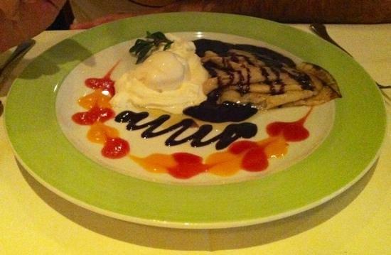 Gabor Restaurant: crepes au chocolat