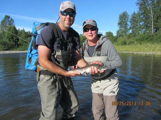 Alaska Fishing Lodge - Wilderness Place Lodge: My first fish via fly fishing!