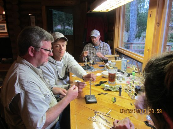 Alaska Fishing Lodge - Wilderness Place Lodge: Tying Flies