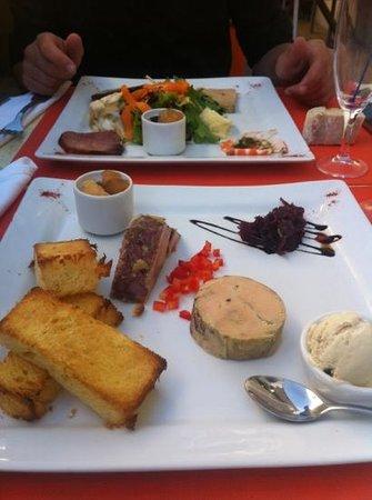 Les Bafouettes : entrée - trio de foie gras