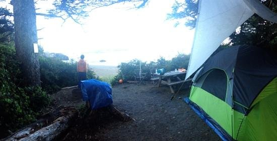 Wya Point Resort: oceanview campsite