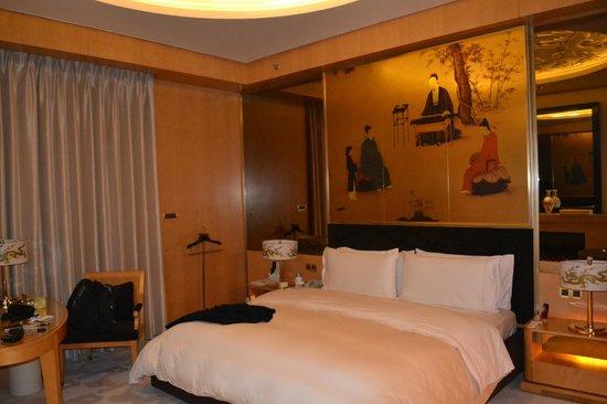 Pangu 7 Star Hotel Beijing: La cama: impecable