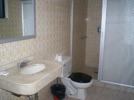 Hotel Congreso: El baño de una de las habitaciones