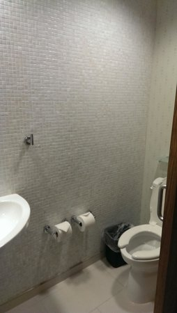 SpringHill Suites Anchorage University Lake: Toilet is separate from shower