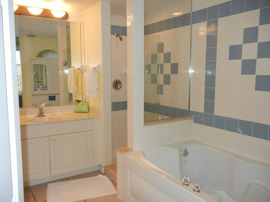 The Cove On Ormond Beach: Master Bath Tub U0026 Shower U0026 Only 1 Towel Bar