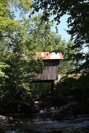 Gold Brook Covered Bridge (Emily's Covered Bridge): Emily's covered bridged viewed from below