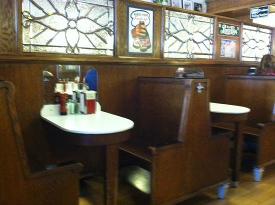 """Soda Pops : cool """"pew"""" type booths"""