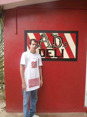 AD's DELI: AD in front of his DELI