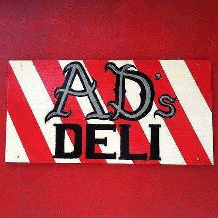 AD's DELI: Main sign