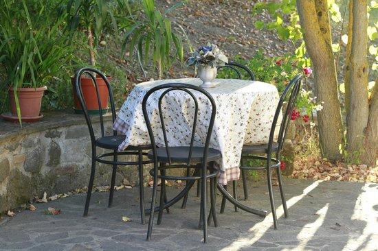 Villa Acquafredda: Colazione in giardino
