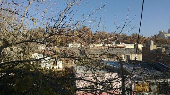 Hostel Estacion Mendoza: Paisagem da janela