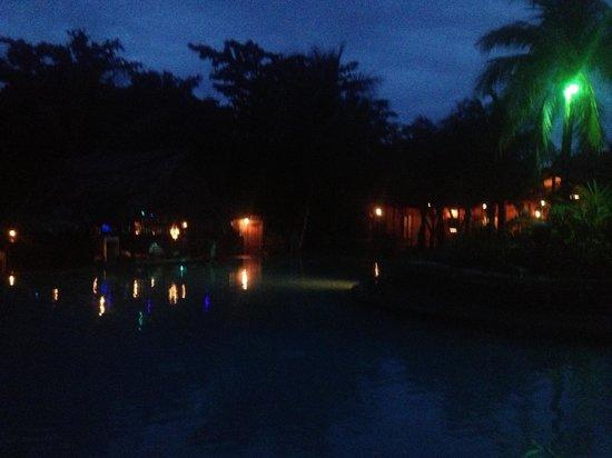 Popa Paradise Beach Resort: The place looks amazing at night!
