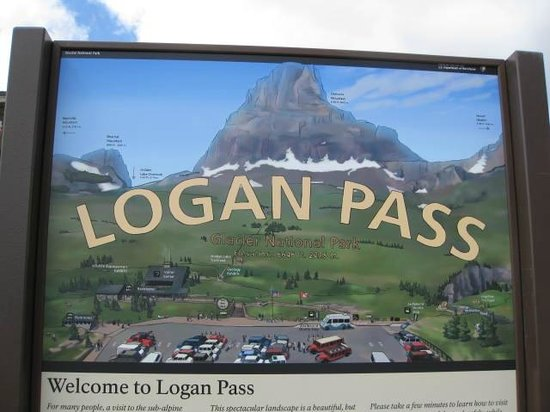 Lake McDonald Lodge: Sig at Logan Pass at the Continental Divide on Going to the Sun Road-Red Bus Tour West Alpine
