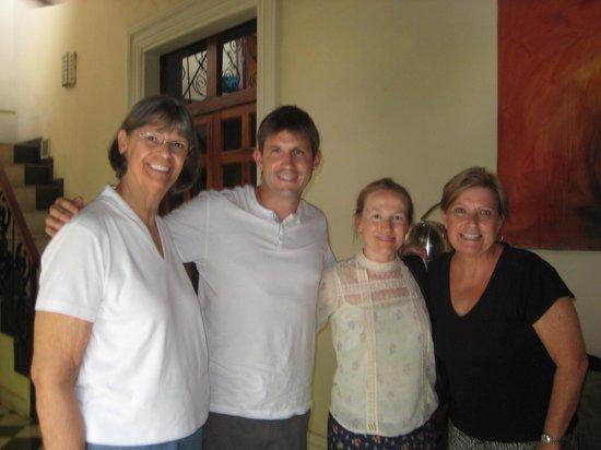 Casa Cubana: Our new friends from England.