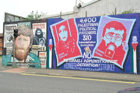 International wall falls road murals belfast picture of for Belfast mural tours