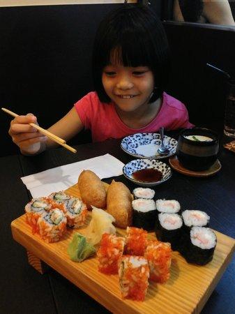 Sankai Japanese Restaurant: She likes it!