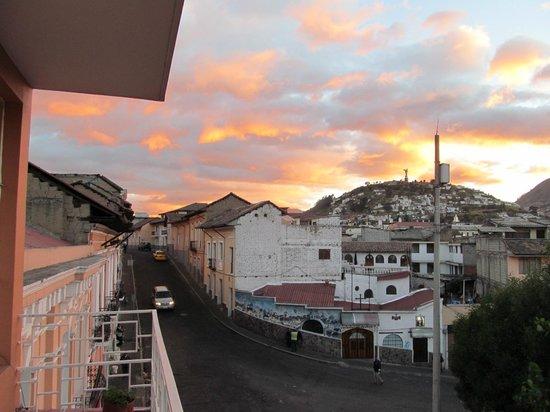 Community Hostel: View from balcony