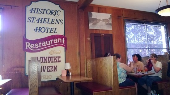 Klondike Restaurant & Bar: old sign on the wall