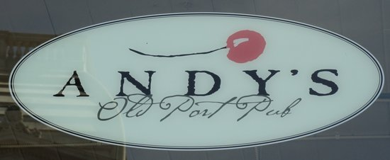 Andy's Old Port Pub Sign