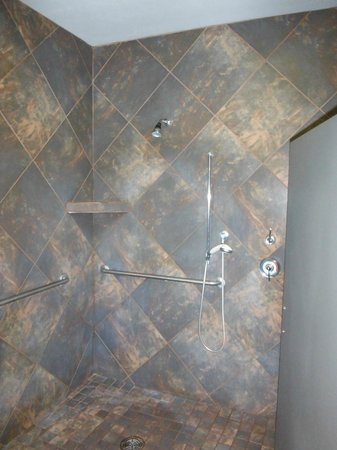 Slate-tiled showers and dry saunas! - Picture of Far Horizons ...