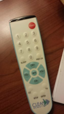 Best Western White House Inn: First thing I do is clean TV remote, dirtiest thing in your room but not this one!
