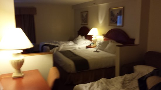 Holiday Inn Express Hotel & Suites Allentown - Dorney Park Area : sorry attempt at a suite -- no way tiny pull out and fulls not queens