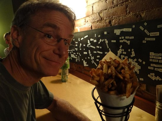Duckfat: FRIES!  (And magnetic poetry)