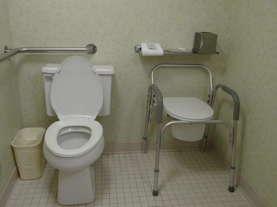Comfort Inn Airport: Toilet set up in accessible room
