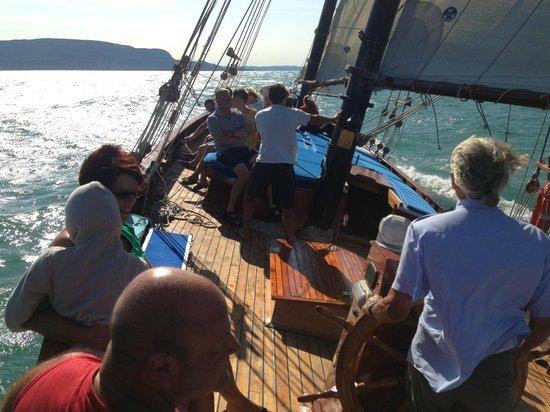 Hotel du Lac et Bellevue: Gratis Ausfahrt auf der Hotel eigenen Segelyacht