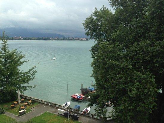 Hotel Bad Schachen : Blick vom Zimmer auf den See