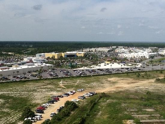 Calypso Resort & Towers: Taken on backside of complex showing proximity to Pier Park