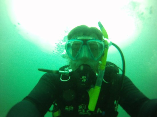 Florida Underwater Sports: Descending to Turtle Ridge.