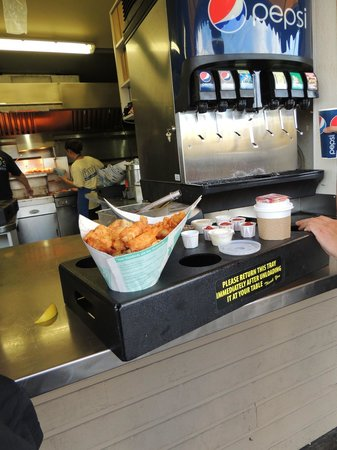 Pajo's: Fish and Chips and the tray they come on