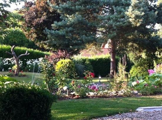 jardin arboré - Bild von Auberge a la Bonne Idee, Saint-Jean-aux ...