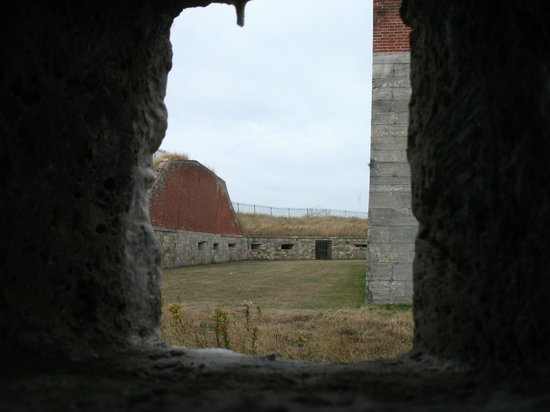 Southsea Castle: View from the tunnel