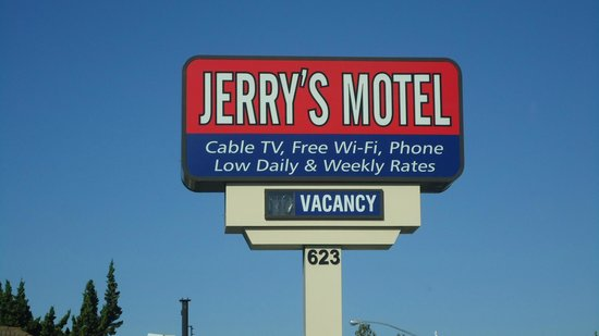 Jerry's Motel Oakdale: Cartel entrada