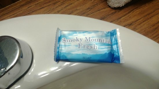 Sidney James Mountain Lodge: Toiletries branded Smoky Mountains :) - nice touch!