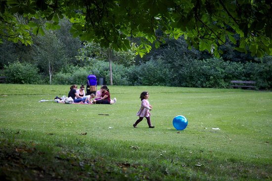 Roundhay Park: Kids like it here, too