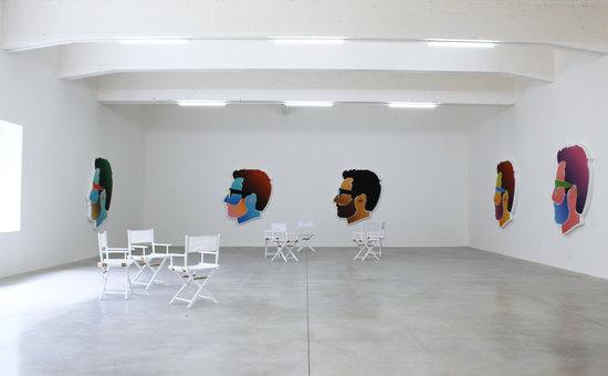 Le Consortium : Vue de l'exposition d'Alex Israel au Consortium