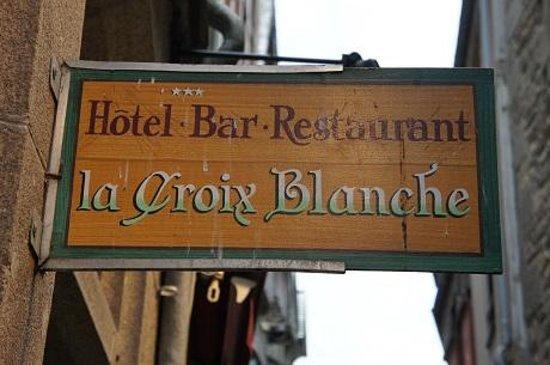 Hotel Croix Blanche : ホテル看板
